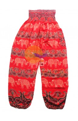 Orange cheerful elephant yoga pants