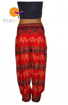 Amazingly comfortabe Orange cheerful elephant yoga pants