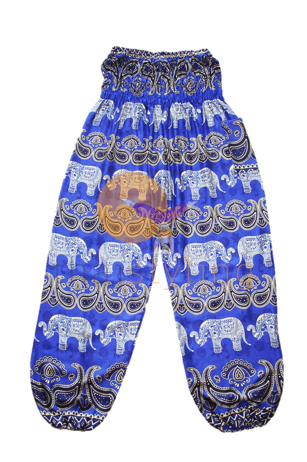 Amazingly comfortabe Blue cheerful elephant yoga pants