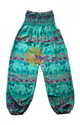 Amazingly comfortabe Green cheerful elephant yoga pants