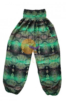 Amazingly comfortable Green Paisley yoga pants