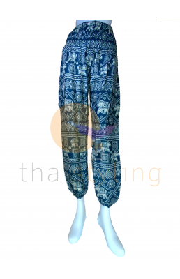 Amazingly comfortable Turquoise trendy elephant yoga pants