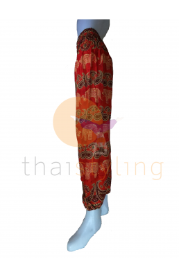 Amazingly comfortabe Red cheerful elephant yoga pants