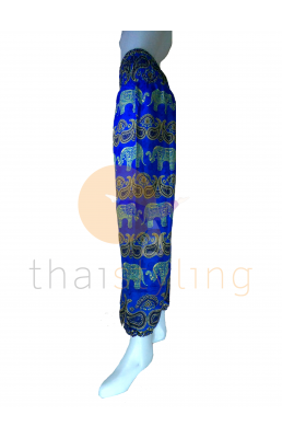 Blue elephant yoga pants