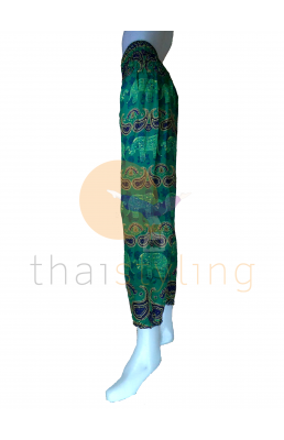 Green elephant yoga pants