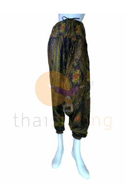 Brown Paisley aladdin style yoga pants