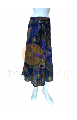 Dark Blue behemian skirt