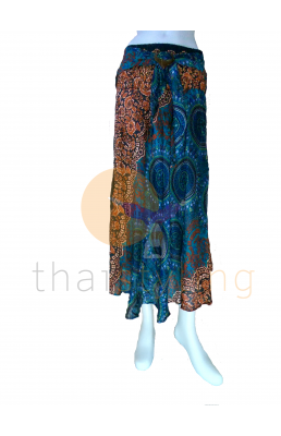 Turquoise Flower behemian skirt