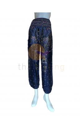 Dark Blue peacock yoga pants