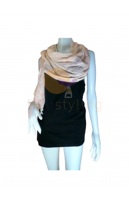 White and Orange scarf