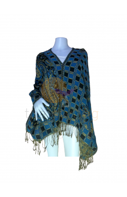 Blue Black scarf