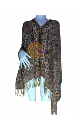 Dark Purple and Light brown scarf