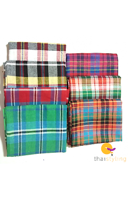 Striped square blanket scarfs